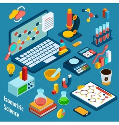Isometric science workplace vector
