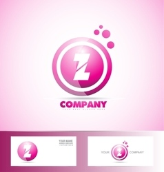 Letter Z pink sphere circle logo icon vector image vector image
