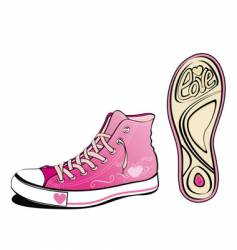 love shoe vector image vector image
