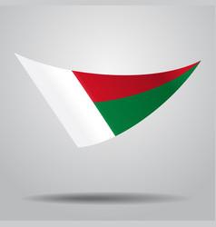Madagascar flag background vector