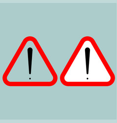 sign attention red and black colour sign vector image