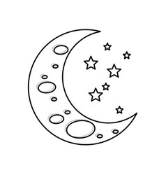 sleeping moon cartoon vector image