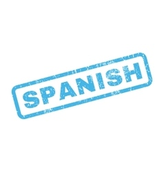 Spanish Rubber Stamp vector image