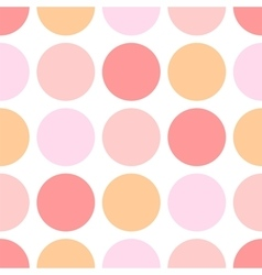 Tile pattern with pink and orange polka dots vector