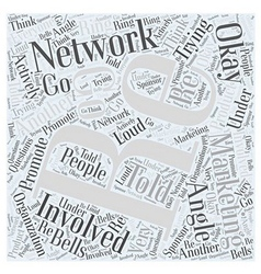 What is network marketing word cloud concept vector