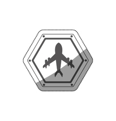Isolated airplane road sign design vector