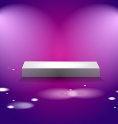 White cube stage with pink lights vector