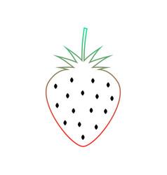 colored wild strawberry icon vector image