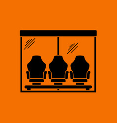 Soccer players bench icon vector