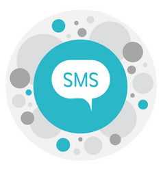 Of gadget symbol on sms icon vector