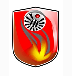 Fire prevention icon vector