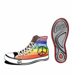 Peace shoe vector
