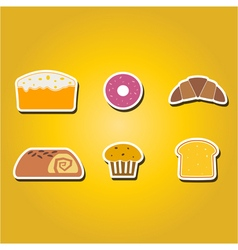 Color icons with baking vector