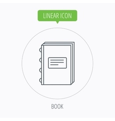 Book icon education sign vector