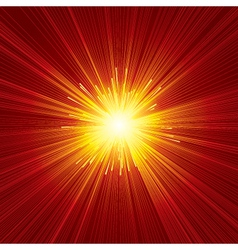 Red sunburst background vector