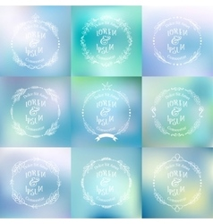 Collection of abstract blurred background vector