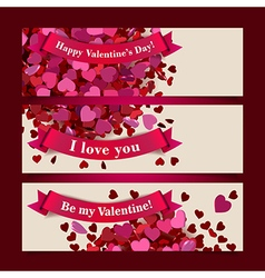 Valentine headers set vector