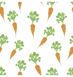 Carrot hand drawn seamless pattern vector
