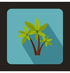 Three palm trees icon in flat style vector