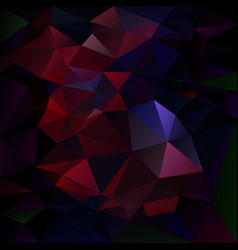abstract irregular polygon background dark vector image vector image