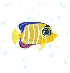 Angel Fish Drawing vector image vector image