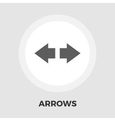 Arrow flat icon vector image