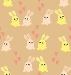 Background of the couples of hares vector image vector image