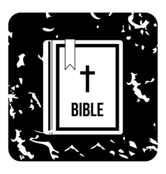 Bible icon grunge style vector image vector image
