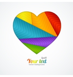 Card heart label with lgbt flag vector