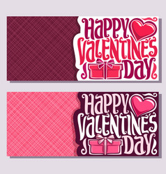 cards for st valentines day vector image vector image