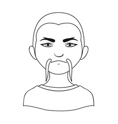 chinesehuman race single icon in outline style vector image