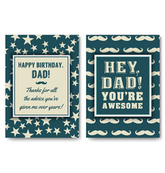 Dad birthday card with words of love vector