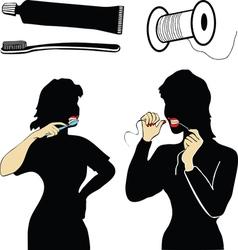 Dental hygiene vector