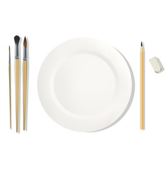 Dinner placemats for a painter vector