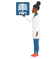 Doctor holding radiograph vector image