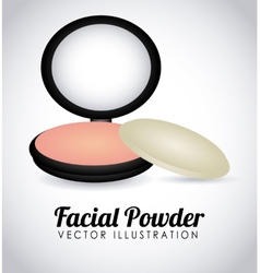 Facial powder vector