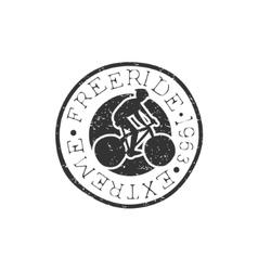 Freeride round vintage stamp vector