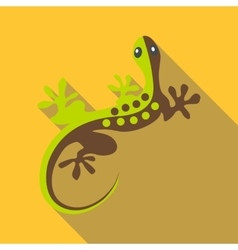 Gecko icon flat style vector
