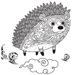Hedgehog cute coloring vector
