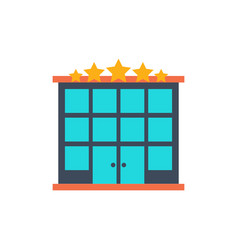 hotel building flat icon vector image