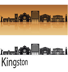 kingston skyline vector image vector image