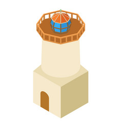 lighthouse architecture icon isometric 3d style vector image