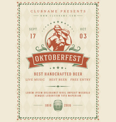 Oktoberfest beer festival celebration poster or vector