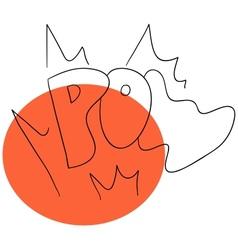 Pow inscription vector image vector image