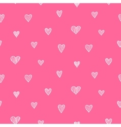 romantic seamless pattern White and pink vector image vector image
