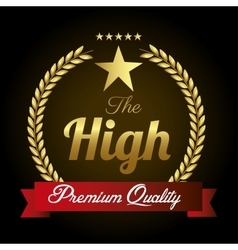 seal guaranteed premium quality gold vector image vector image