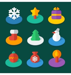 Set of isometric flat icons vector image vector image
