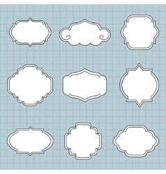 Set of labels on a blue background vector image vector image