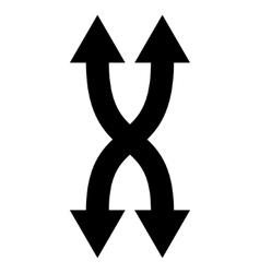 Shuffle arrows vertical flat icon vector