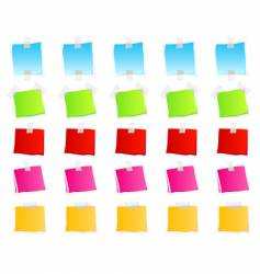 sticky retail notes vector image vector image